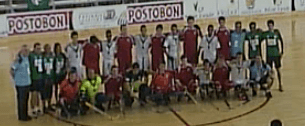 England and Macau u20 players line up together 8th October 2013